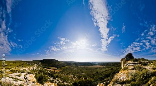 Fotomural Panorama du Massif de la Clape à Narbonne dans l'Aude