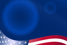 USA Styled Abstract Business Template - Background For Brochure
