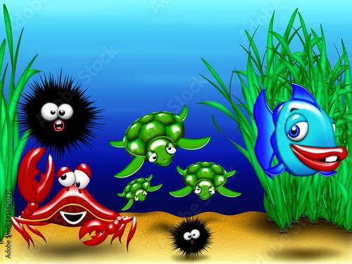Foto-Lamellen (Lamellen ohne Schiene) - Animali Mare-Sea Animals-Animaux Mer 2 (von BluedarkArt)
