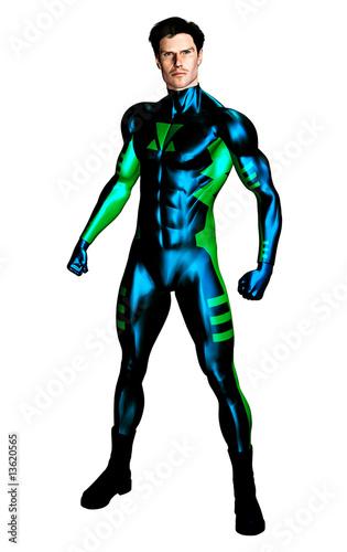 Fényképezés  Male Superhero standing