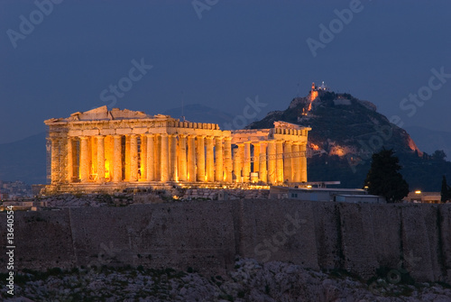 Poster Athens Parthenon at Twilight