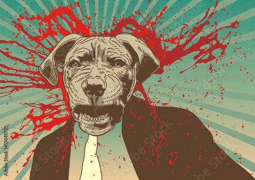 Reservoir Dog keeping it Gangsta. Fototapet