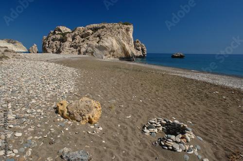Papiers peints Cappuccino galets sur la plage de petra tou romio