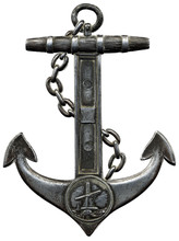 Metal Anchor Isolated Against ...
