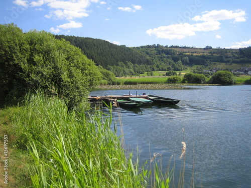 Fotografia  Boote auf dem Meerfelder Maar