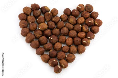 Wall Murals Coffee beans Brown nut heart
