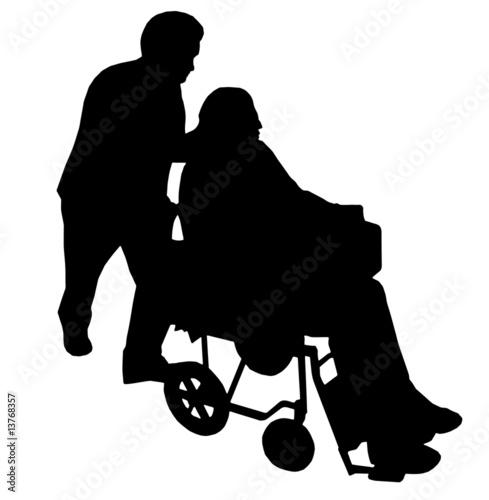 disabile (vettoriale) Canvas Print