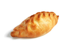 Single Pasty Over White