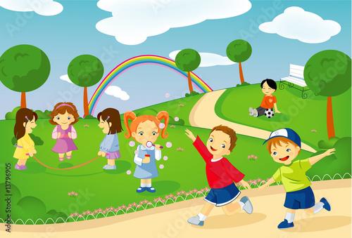 Foto-Lamellen (Lamellen ohne Schiene) - Bambini al parco (von Deborah Soglia)
