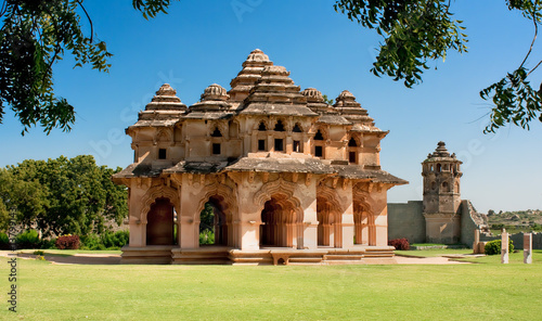 Lotus mahal of Zanana Enclosure at ancient town Hampi