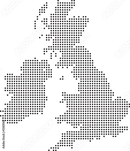 Obraz na plátně uk dot map
