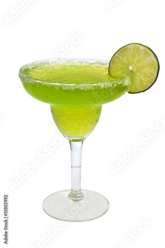 Fotografie, Obraz  Frozen Margarita, Lime, Isolated