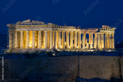 The Parthenon of the Acropolis, Athens Greece