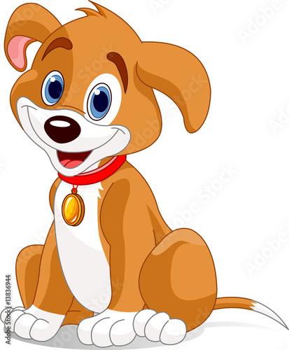 Printed kitchen splashbacks Fairytale World Cute dog