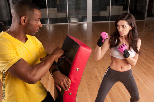 Photo  kickboxing trainer