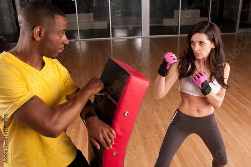 Photo  kickboxing trainer
