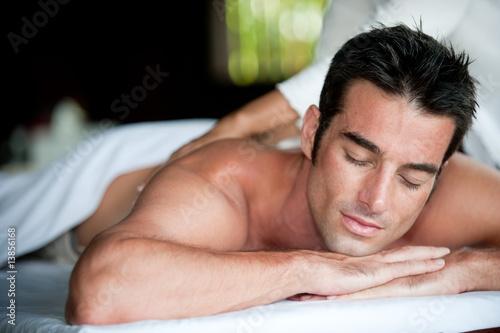 Fotografie, Obraz  Man Having Massage