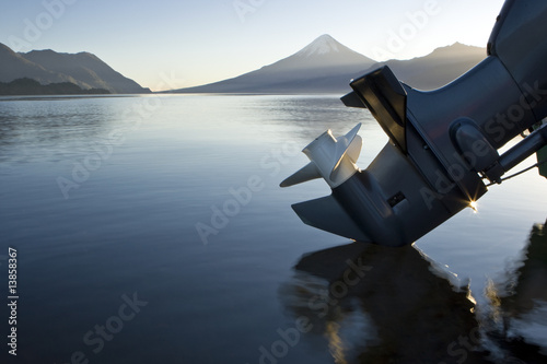 Fotografie, Obraz  Outboard reflection