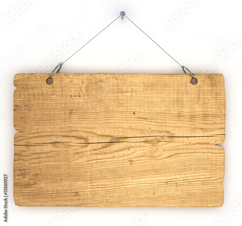 Deurstickers Hout Old wood notice board