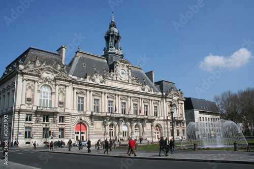 Fotografie, Obraz  Hotel de ville de Tours