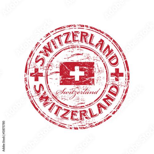 Fotografie, Obraz  Switzerland grunge rubber stamp