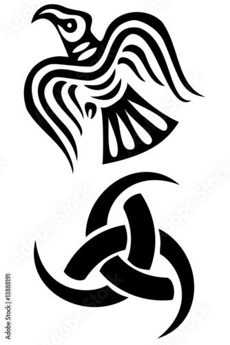 Photo  Set of two viking symbols