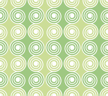 Green Spirals Seamless Pattern