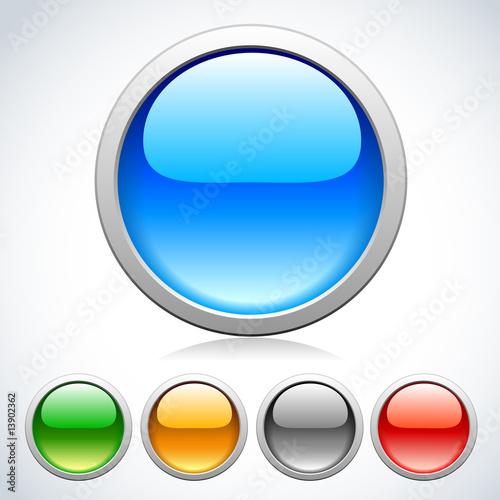 Fotografie, Obraz  Buttons for web design.