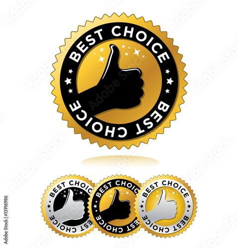 "Fotografía  set of ""best choice"" label"