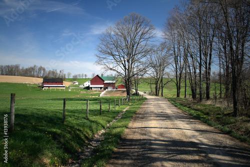Amish Farm Wallpaper Mural