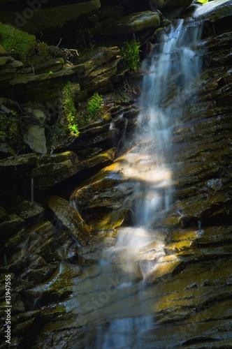 Fotobehang Bossen Waterfall