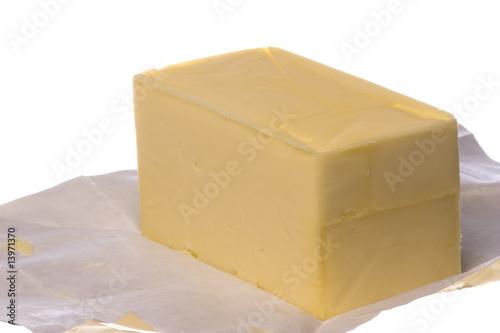 Staande foto Zuivelproducten Butter Isolated