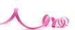 canvas print picture - image d'un ruban de cadeau rose détouré sur fond blanc