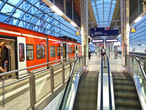 Foto op Aluminium Treinstation Bahnhof