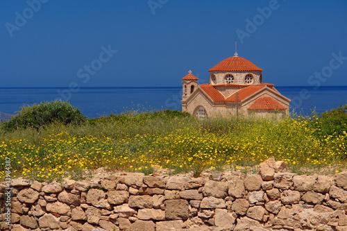 Deurstickers Cyprus Agios Georgios église orthodoxe de Chypre