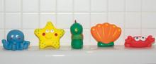 A Line Of Bath Toys