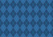 Blue Argyle Pattern