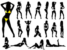Girls In Bikinis - Vector (Hig...