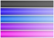 Abstract banner of five colors. white background easily cropping