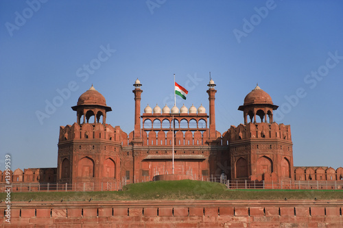 Fotobehang Delhi Red Fort in New Delhi