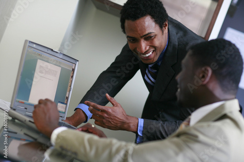 African business men  working Plakát