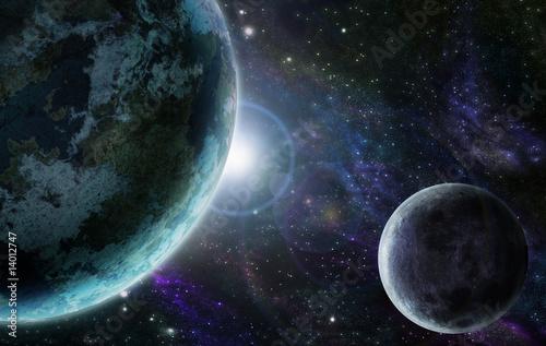 Fototapety na sufit   niebieski-planeta-ziemia-w-przestrzeni-kosmicznej