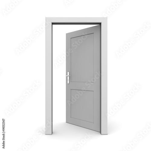 Fotografía  Open Single Grey Door