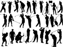 Golfers Collection Silhouettes