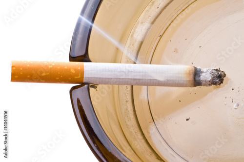Keuken foto achterwand Fractal waves Cigarettes in an ashtray.