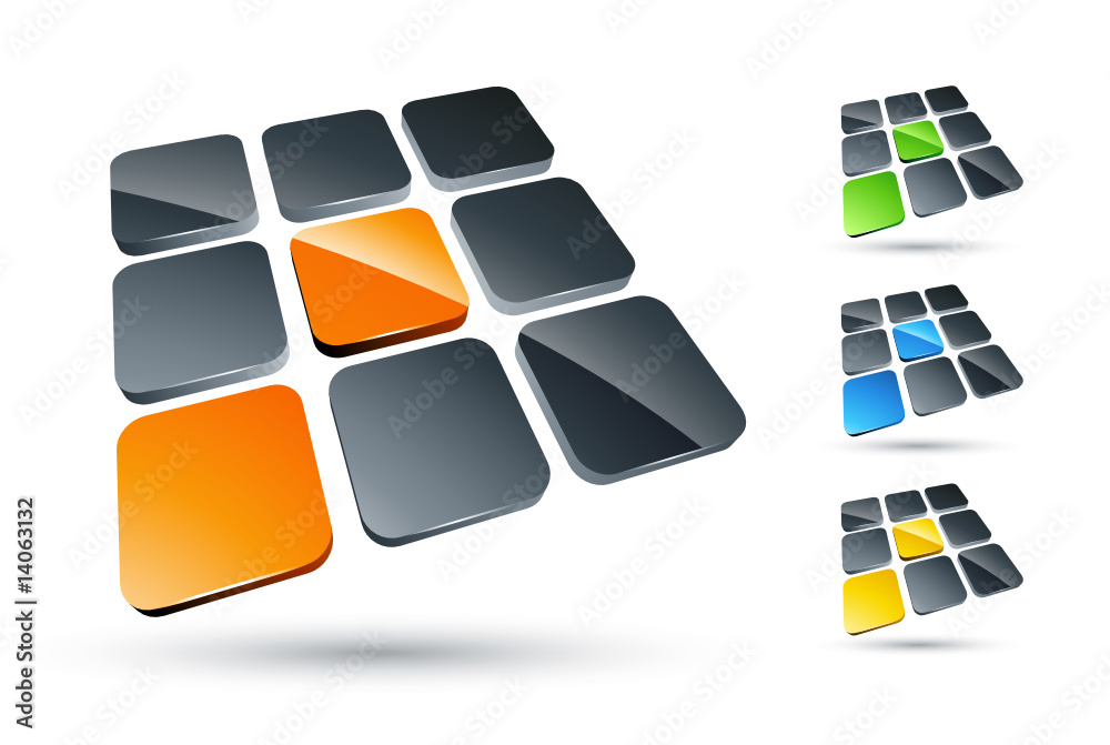 Fototapeta Business logo design color collection