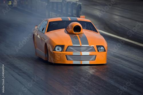 Fotobehang Snelle auto s Car - Dragster
