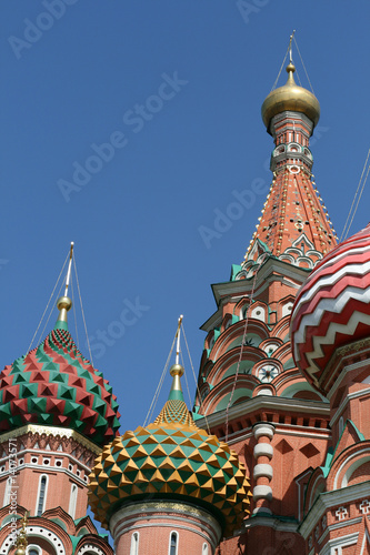 Poster Bangkok Saint Basil cathedral at Red Square in Moscow, Russia