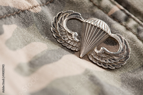 Canvas Print Paratrooper War Medal