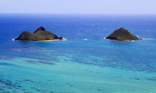 The Mokulua Islands Off The Windward Coast Of Oahu, Hawaii